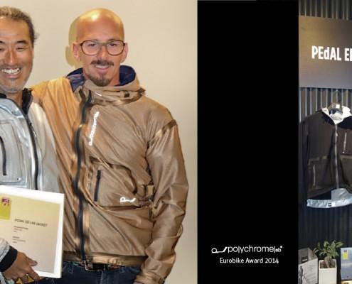 Hideto Suzuki Michele Stinco Eurobike Award Fahrradjacke pedaled polychromelab