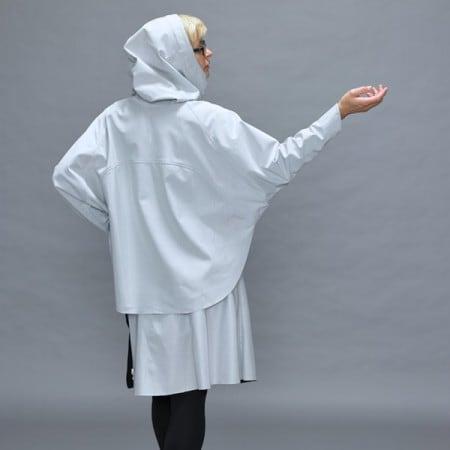 designer damen poncho design schwarz silber